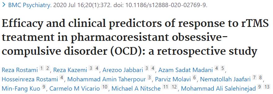 OCDでのDLPFCの効果とTMSが効果的な患者さんの因子