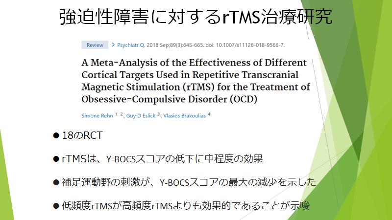 OCDに対するメタアナリシス