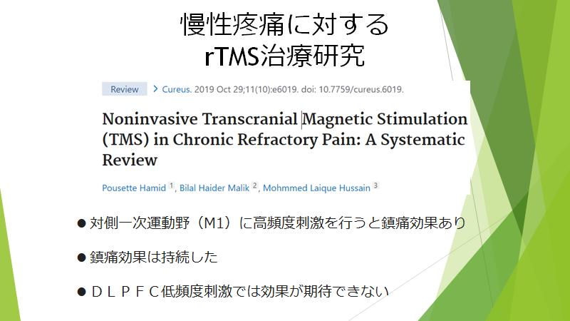 慢性疼痛でのシステマティックレビューをご紹介します。