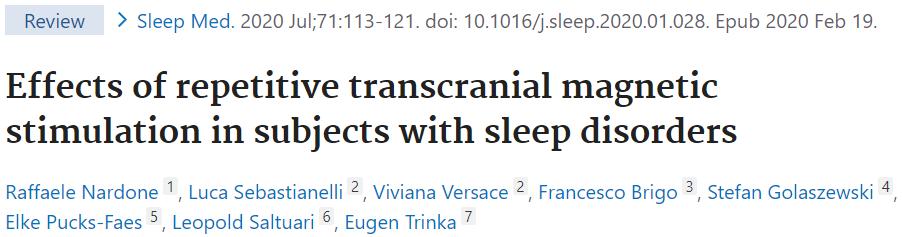 不眠症のTMS治療についてのレビューを紹介します。