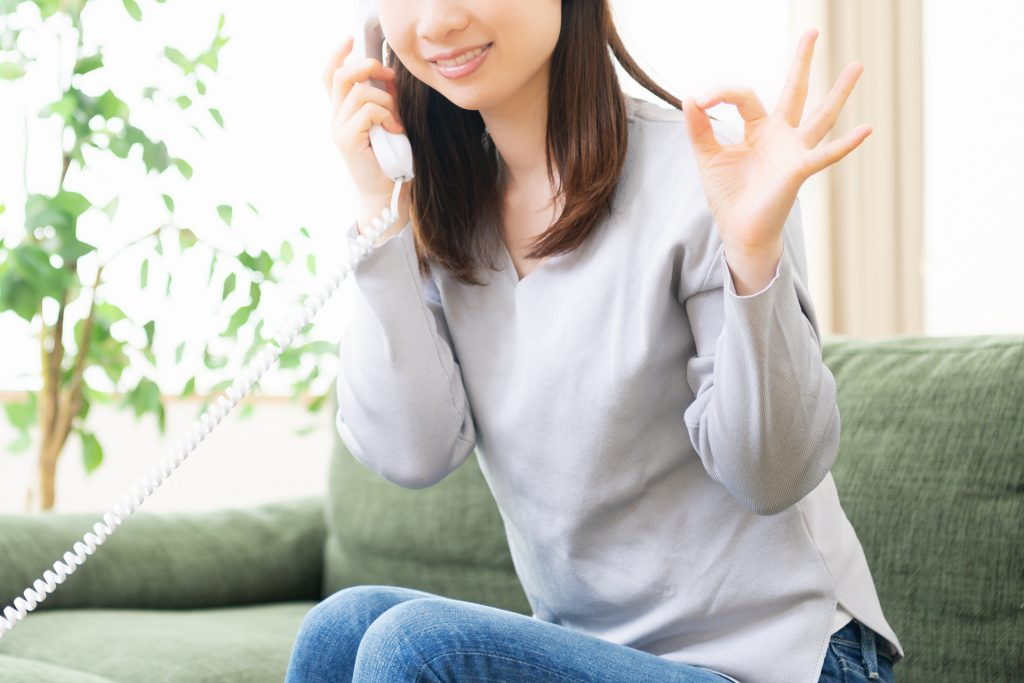 確認電話のイメージ