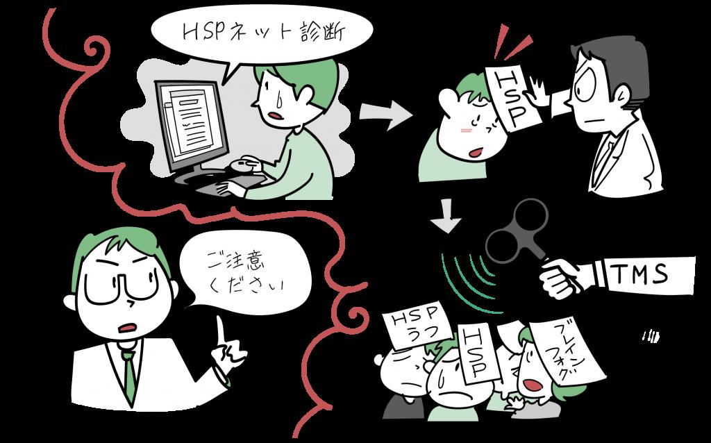 HSPでよく誤解されていることをイラストで紹介します。