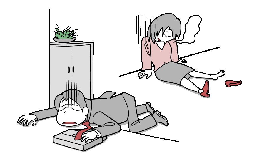 慢性疲労症候群の症状のイメージイラストです。