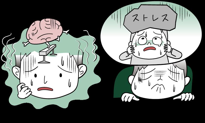 内因性と心因性といううつ病の分類をイラストでご紹介します。