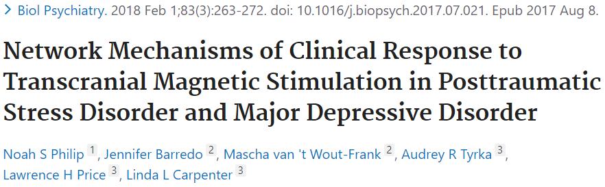 PTSDとMDDのTMS治療の臨床効果を検討した論文です。